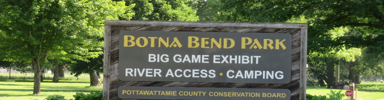 Photo of Botna Bend Park Sign in County Properties Slide Show