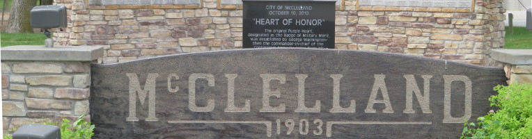 Photo of McClelland Sign in County Properties Slide Show